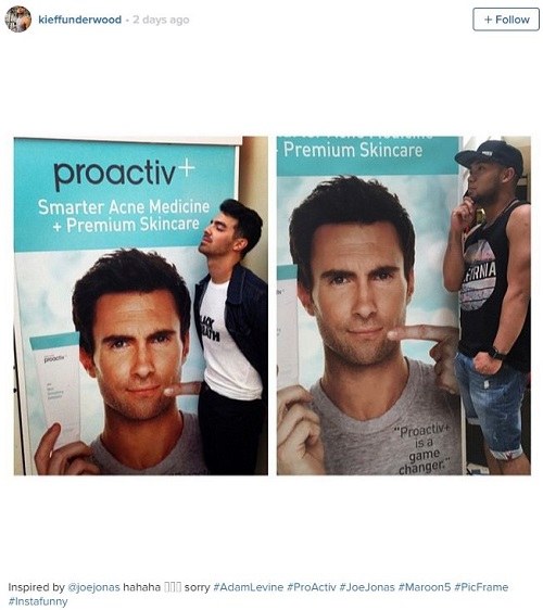now men everywhere are pretending to get intimate with adam levine